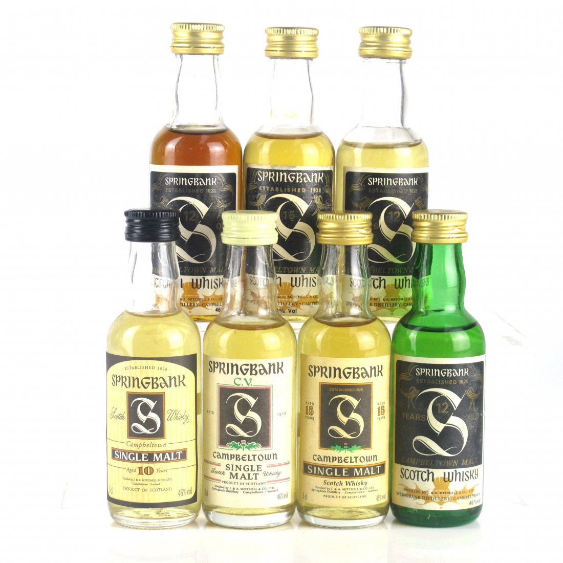 Springbank 1980s/1990s Miniature Selection 7 x 5cl