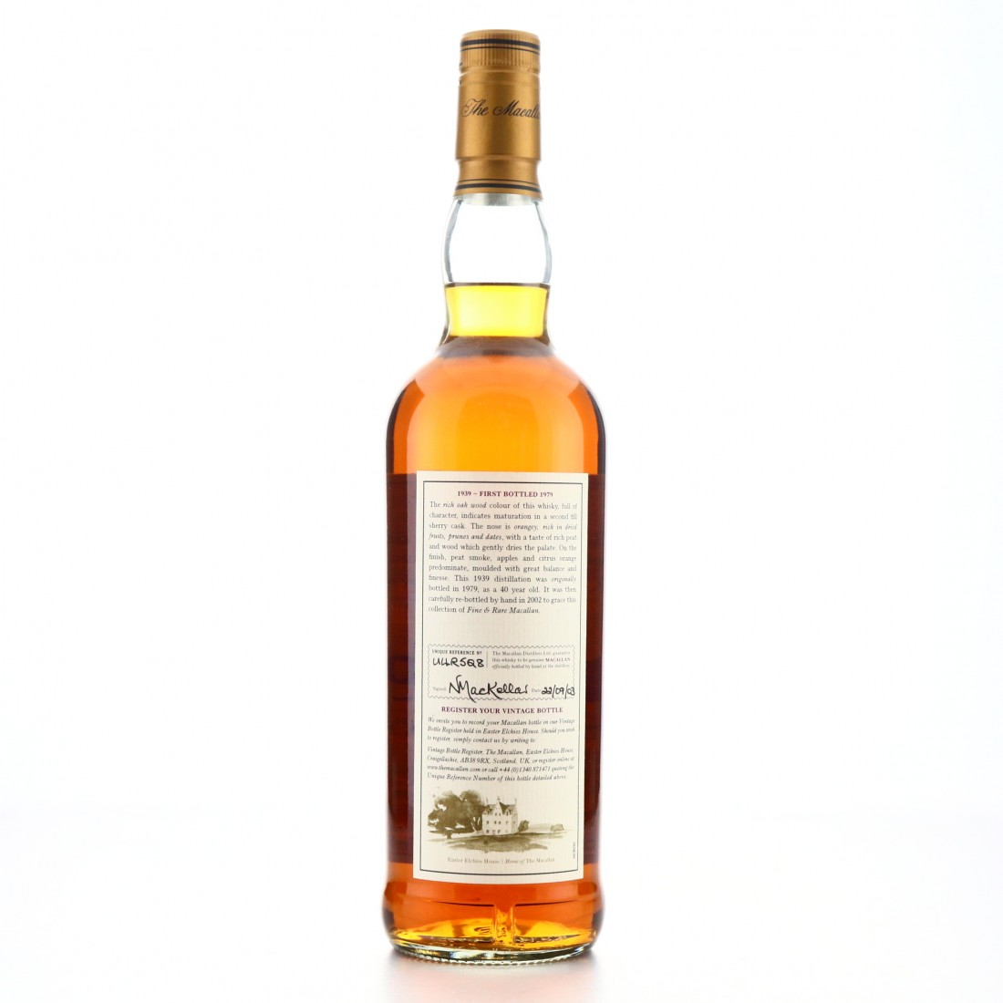 Macallan 1939 Fine and Rare 40 Year Old / One of 58 Bottles