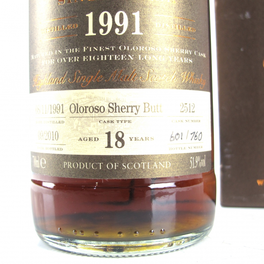 Glendronach 1991 Single Cask 18 Year Old #2512