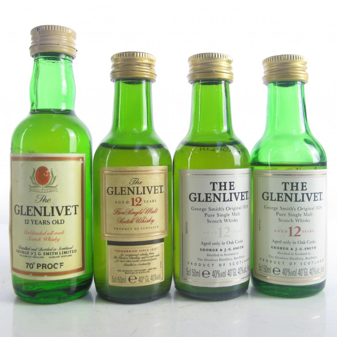 Glenlivet 12 Year Old Miniatures x 4