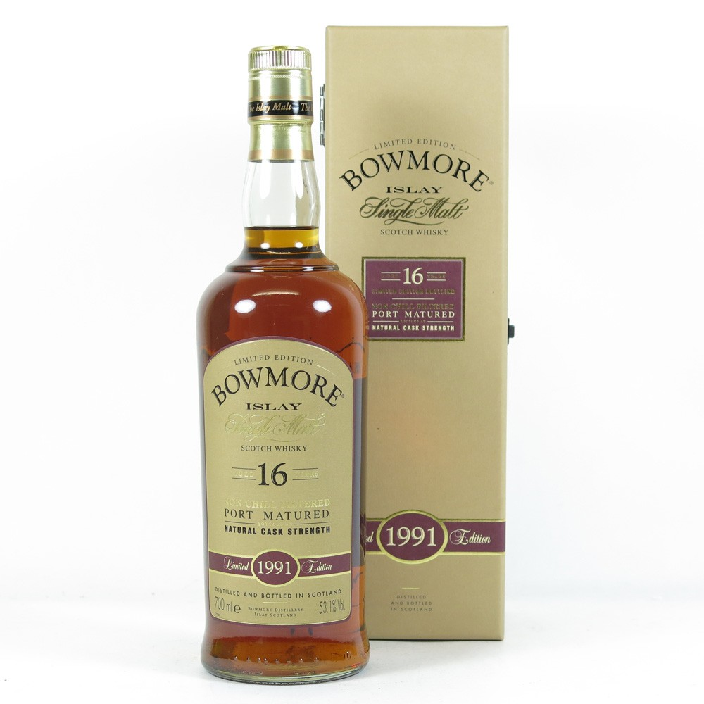 Bowmore 1991 Port Cask 16 Year Old Front