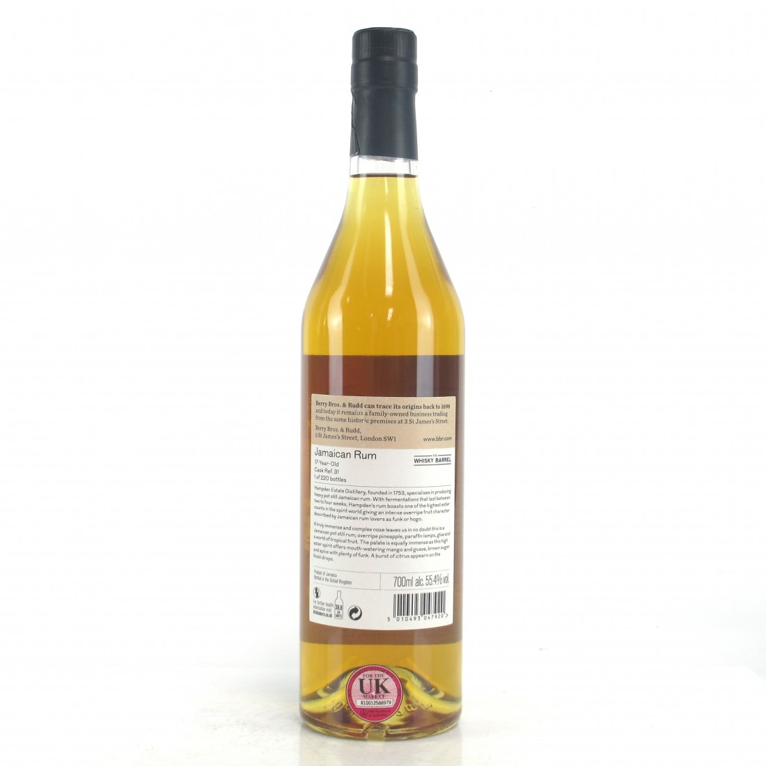 Hampden Berry Brothers 17 Year Old Jamaican Rum