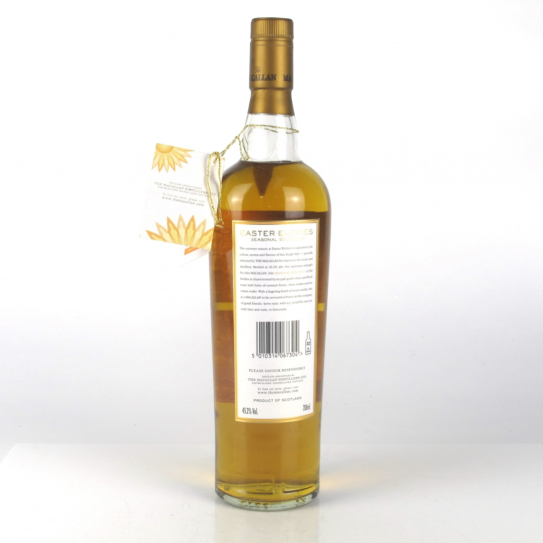 Macallan 8 Year Old Easter Elchies Seasonal Selection