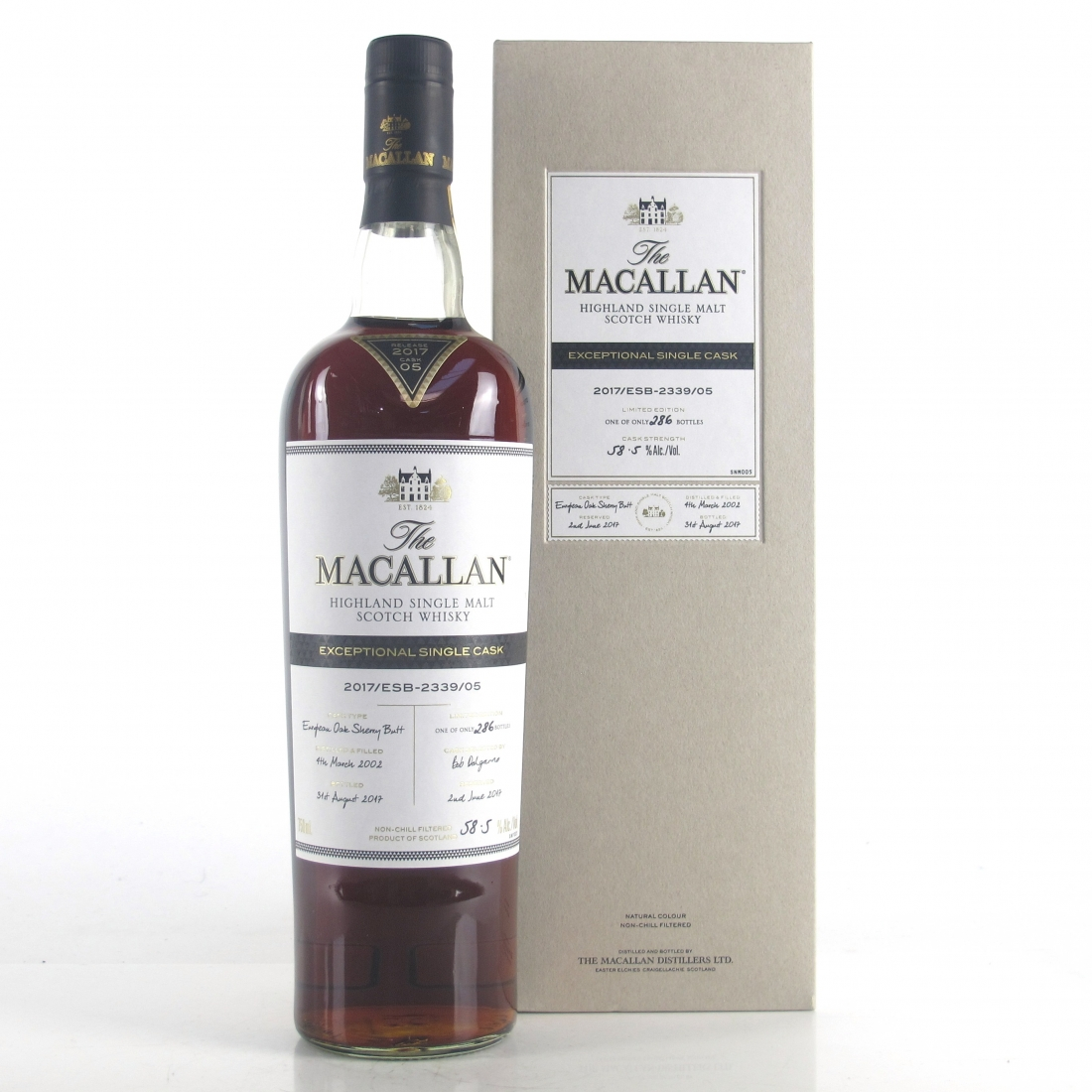 Macallan 2002 Exceptional Cask #2339-05 / US Import 75cl