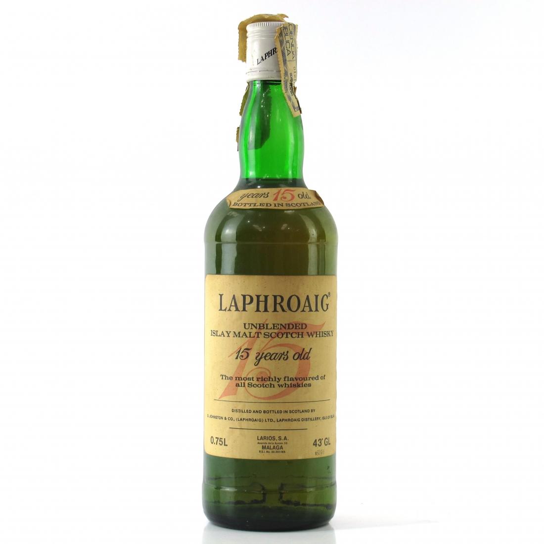 Laphroaig 15 Year Old 1980s / Spanish Import