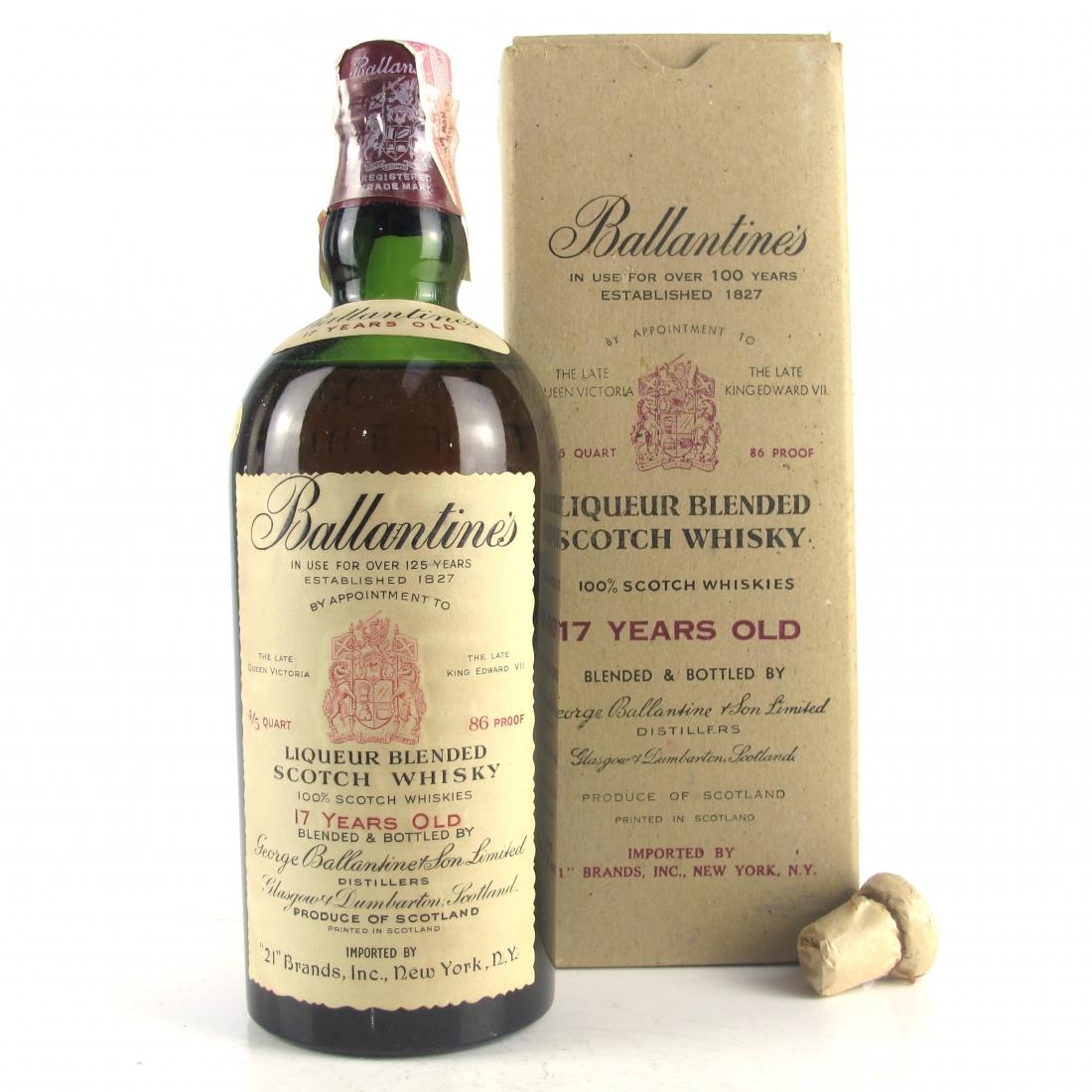 Ballantine's 17 Year Old 1950s / US Import