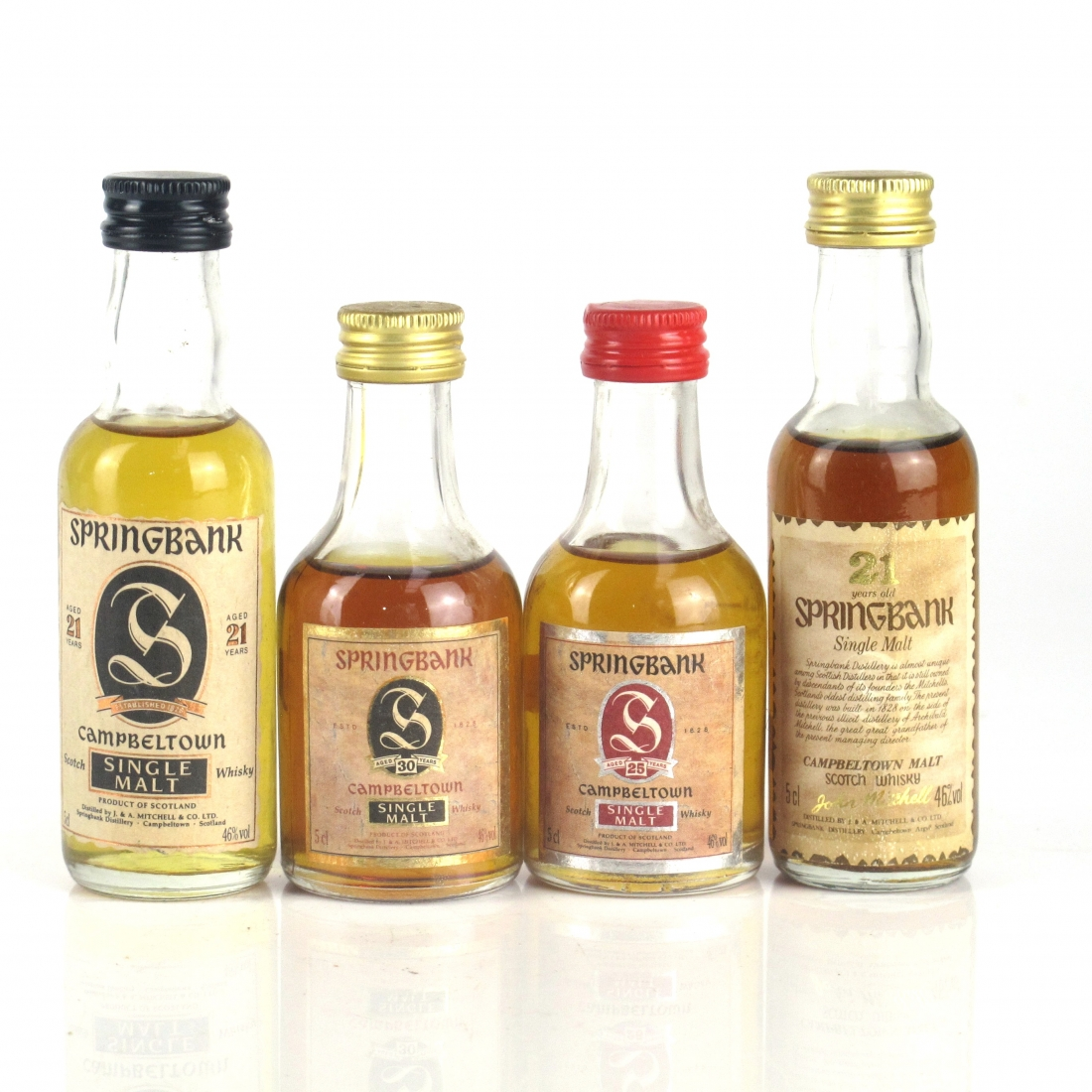 Springbank Miniature Selection 4 x 5cl / Including 30 Year Old