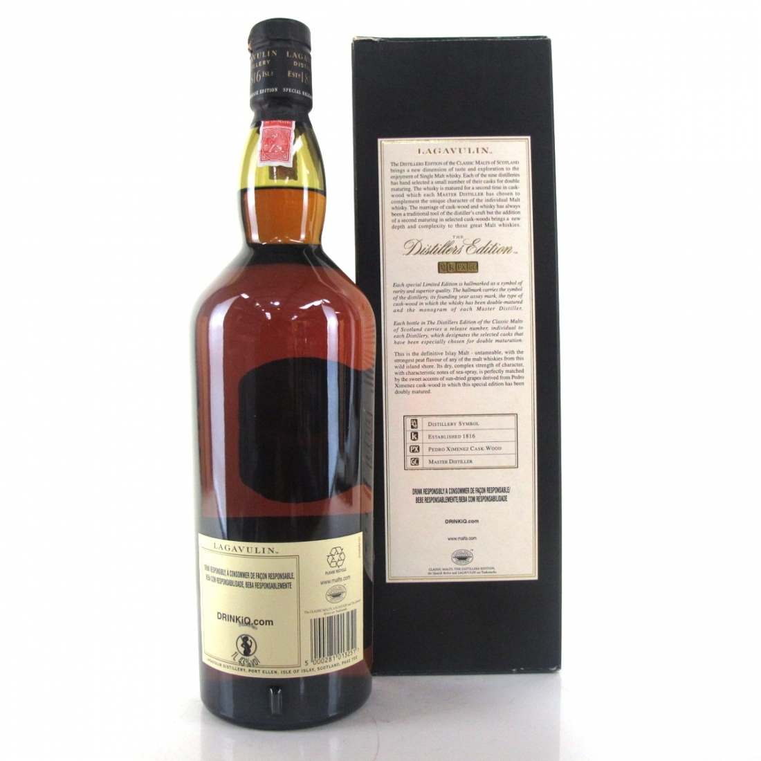Lagavulin 1995 Distillers Edition 1 Litre