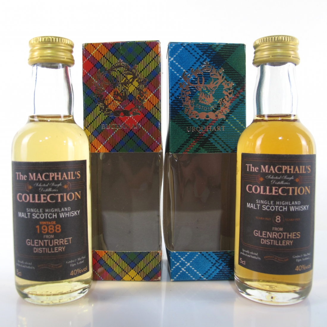 Miscellaneous Gordon and MacPhail Miniature Selection 2 x 5cl