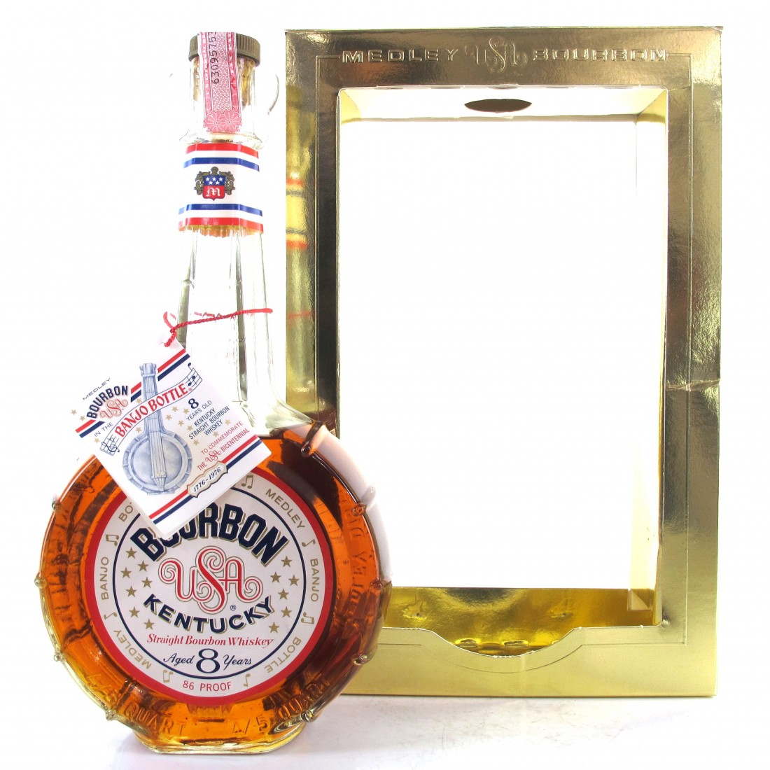 Medley 8 Year Old Bicentennial Bourbon 1976 / Banjo Bottle