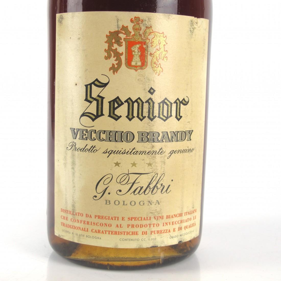 Senior Vecchio Brandy 1 Litre 1960s