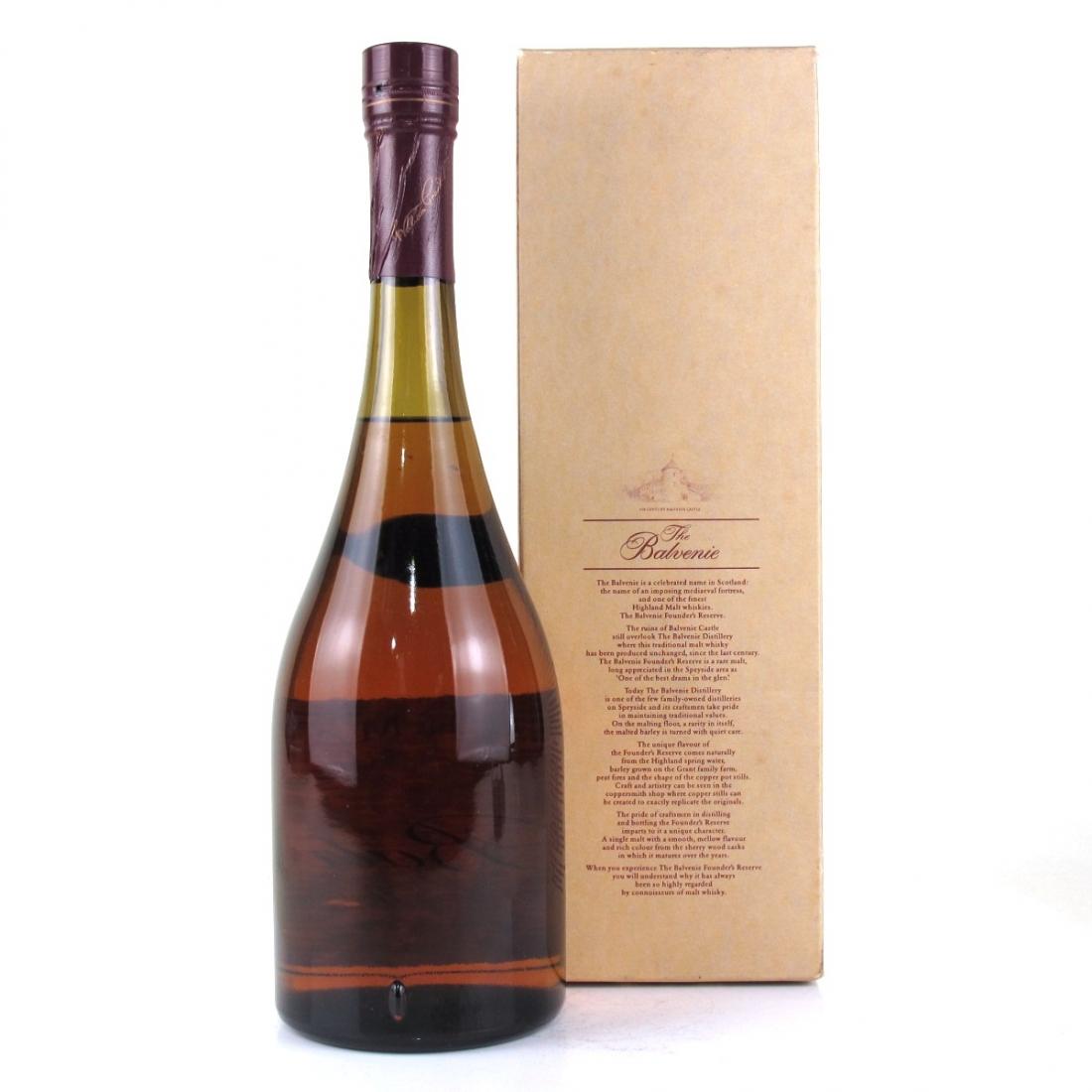 Balvenie 10 Year Old Founder's Reserve Cognac Bottle 1 Litre