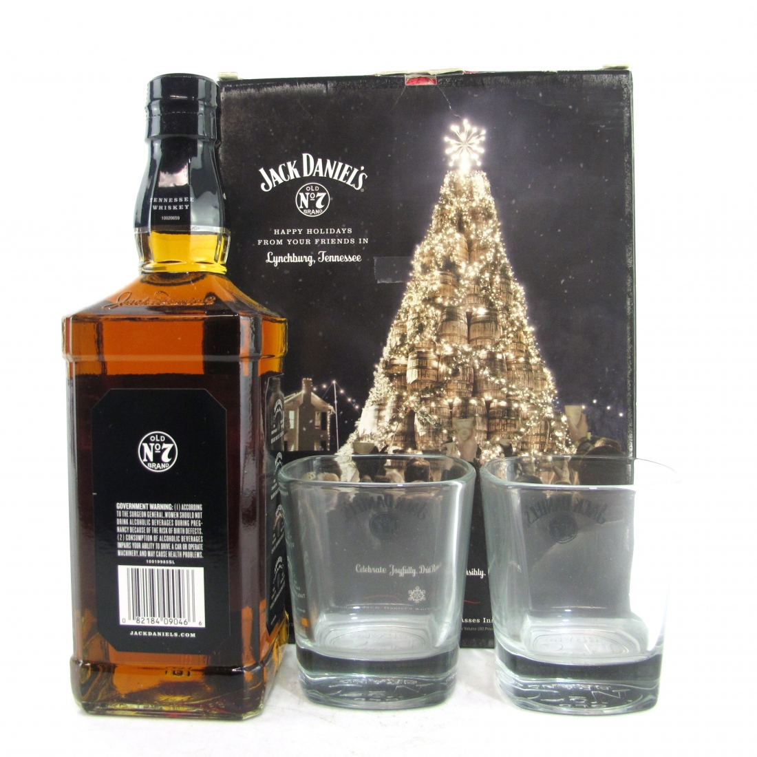 Jack Daniel's Old No.7 Gift Set / with 2 x Glasses