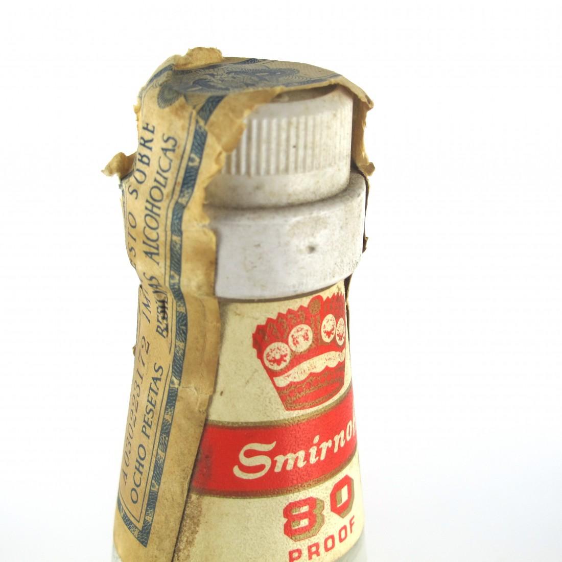 Smirnoff 80 Proof Vodka 1960s / Cinzano Import