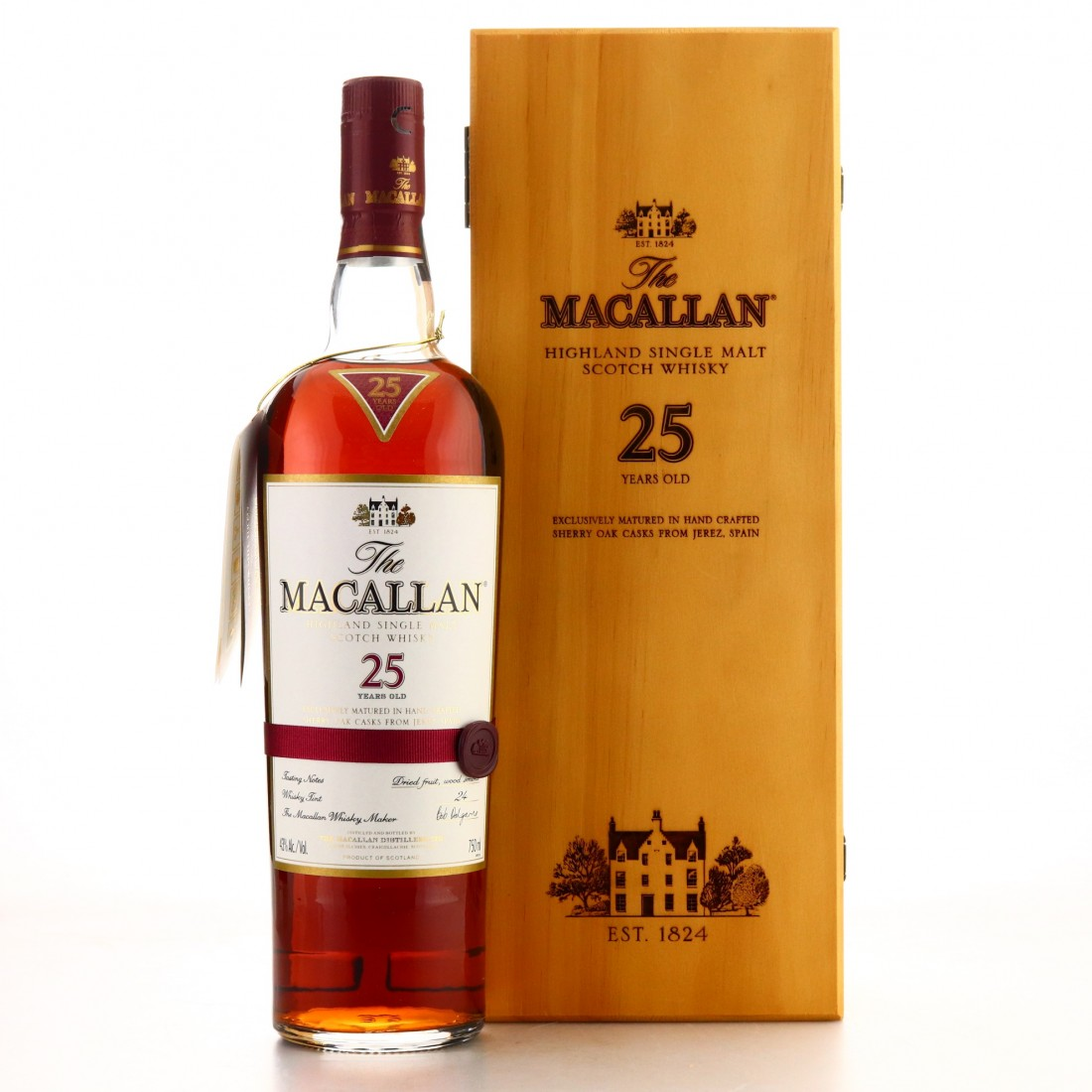 Macallan 25 Year Old Sherry Oak 75cl / US Import
