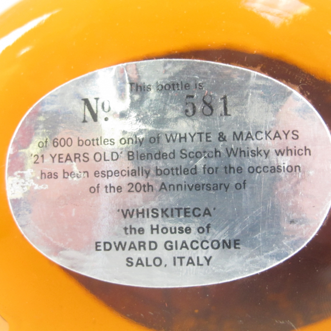 Whyte and Mackays 21 Year Old 1980s