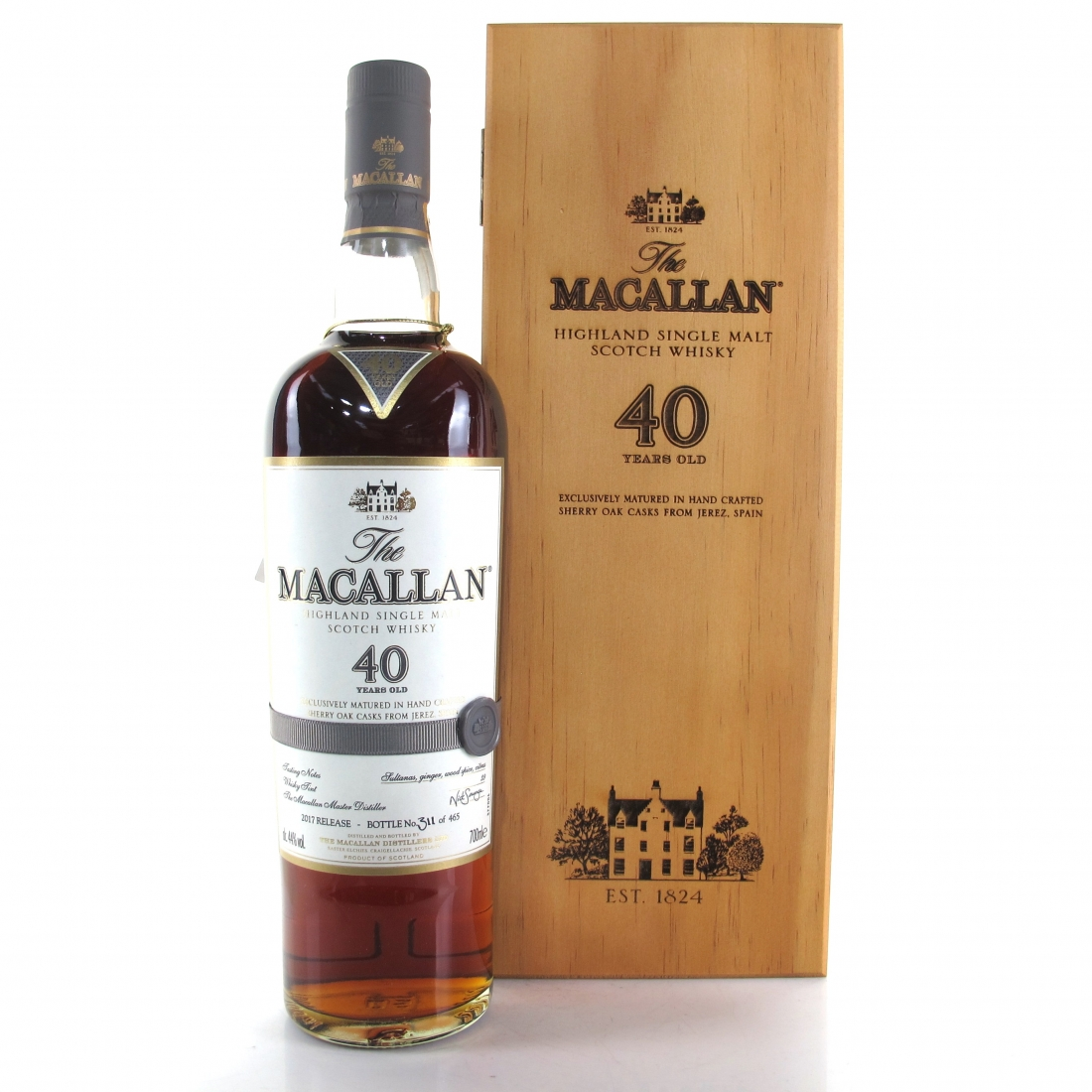 Macallan 40 Year Old 2017 Release