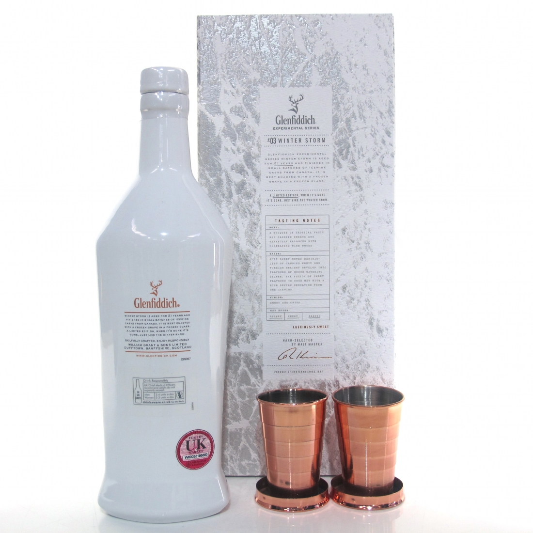 Glenfiddich 21 Year Old Experimental Series #3 Winter Storm / Includes 2 Branded Collapsible Cups
