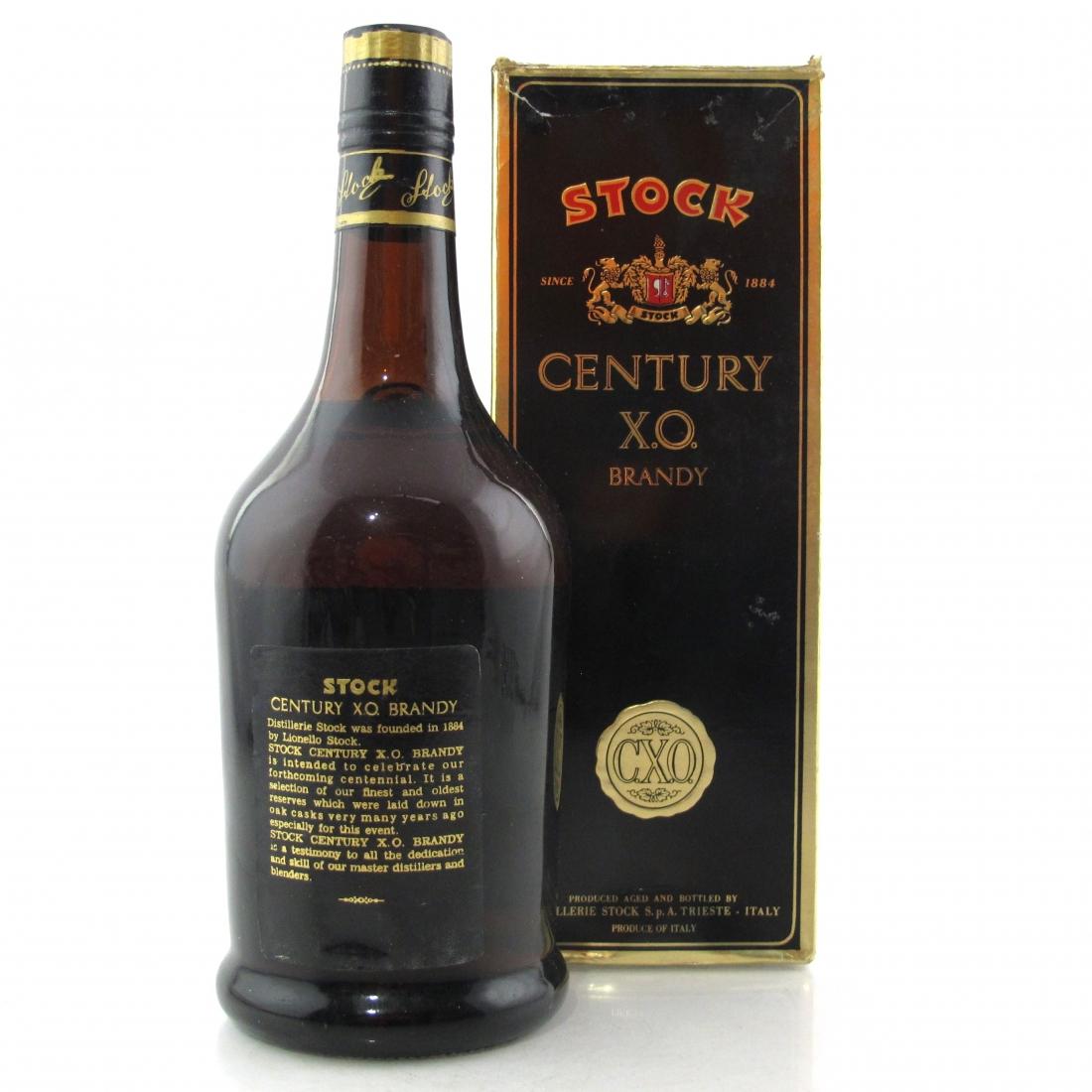 Stock Century XO Brandy 1980s