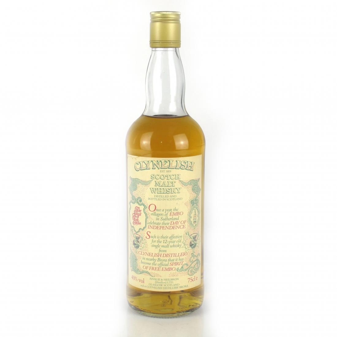 Clynelish 12 Year Old / Spirit of Free Embo Bottled 1988