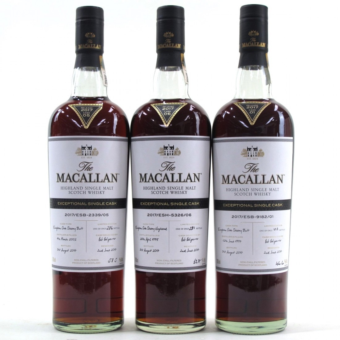 Macallan Exceptional Cask Collection 7 x 70cl
