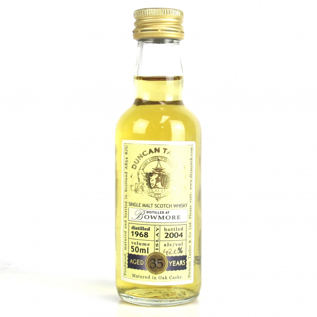 Bowmore 1968 Duncan Taylor 35 Year Old Miniature 5cl