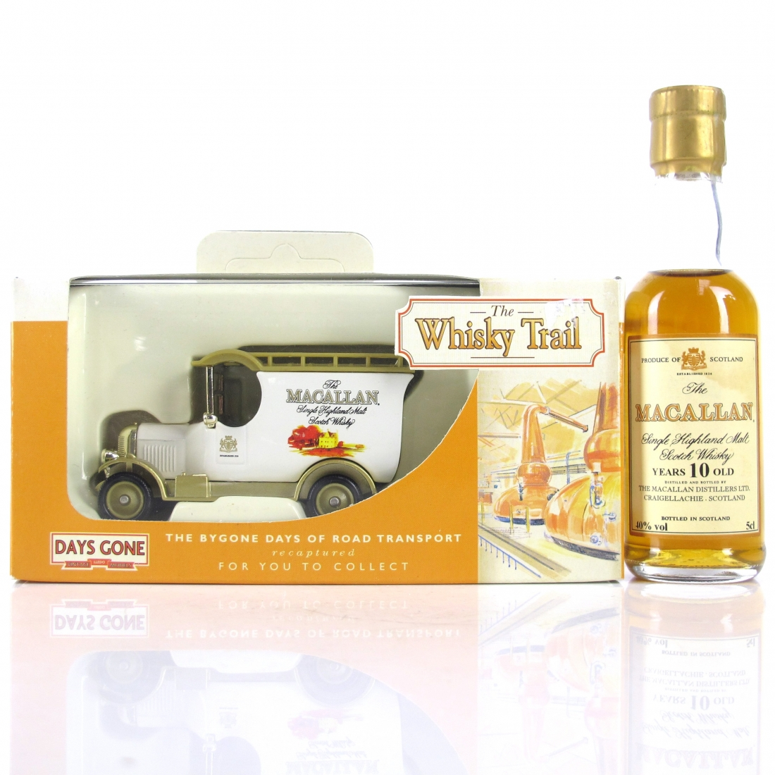 Macallan 10 Year Old Miniature 5cl 1990s / includes Whisky Trail Van