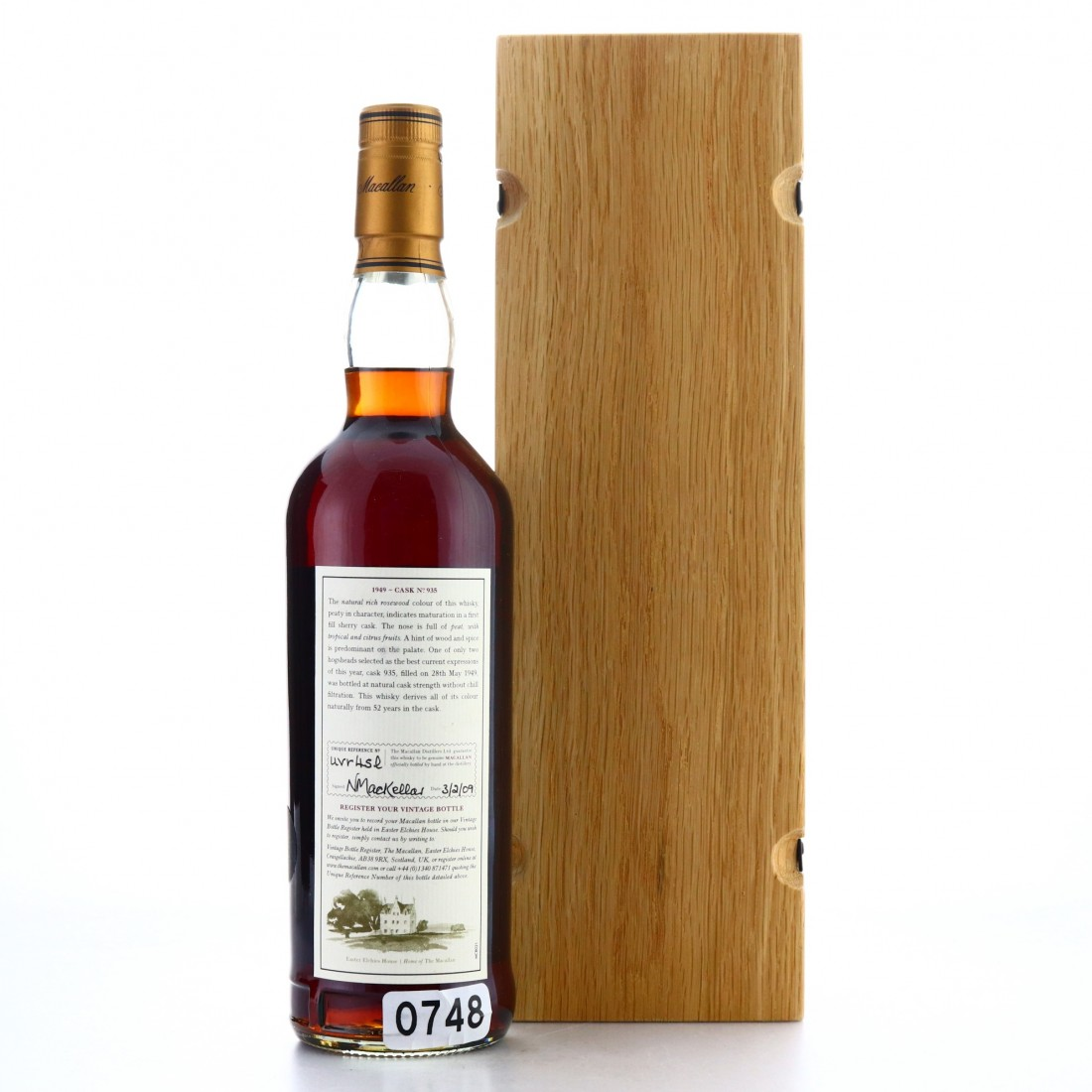 Macallan 1949 Fine and Rare 52 Year Old #935