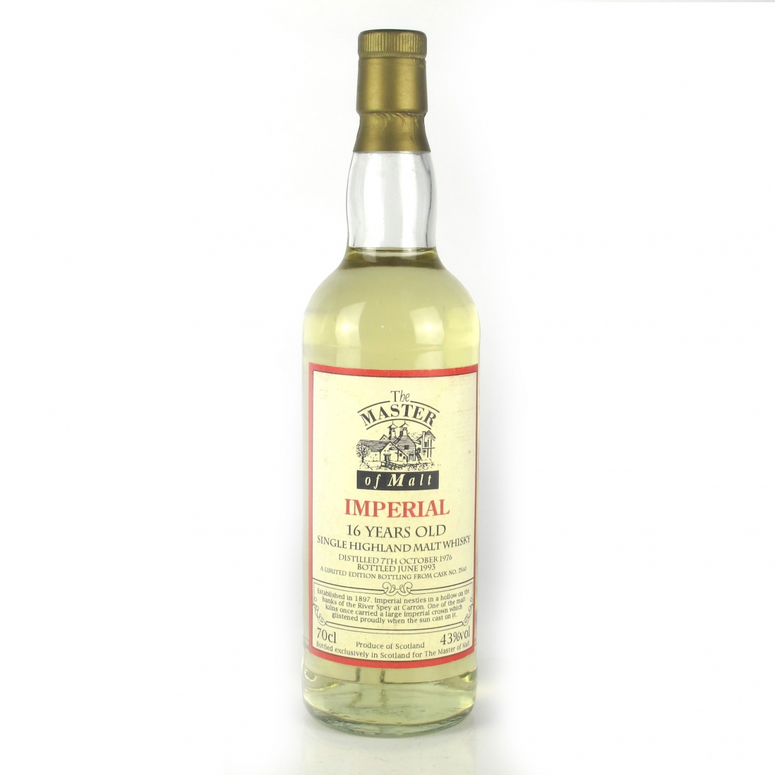 Imperial 1976 Master of Malt 16 Year Old