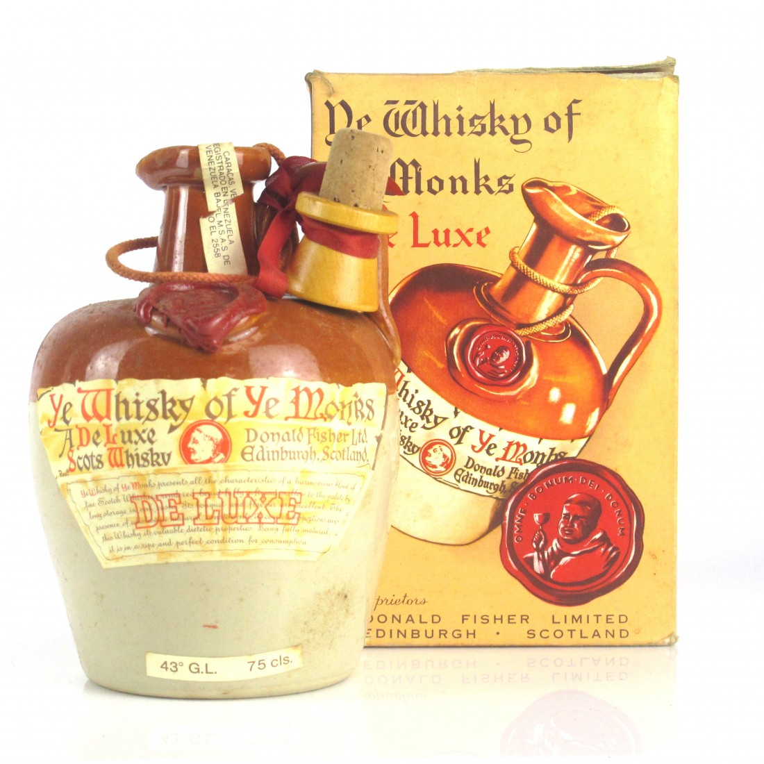Ye Whisky of Ye Monks Deluxe Scotch Whisky Decanter 75cl