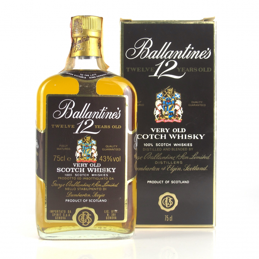 Ballantine's 12 Year Old 1980s / Spirit Import