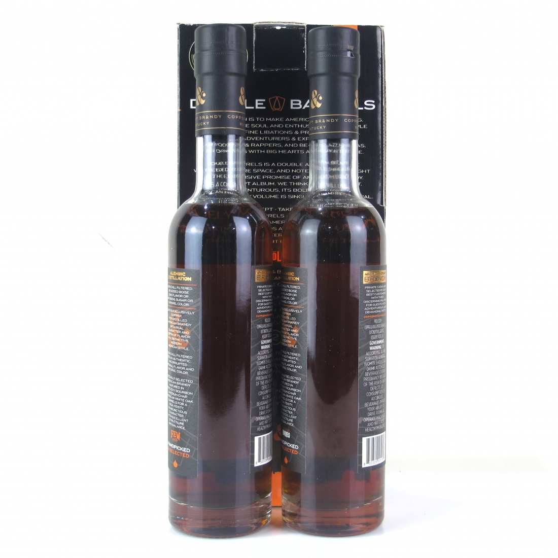 Copper and Kings Double Barrels American Brandy 2 x 37.5cl