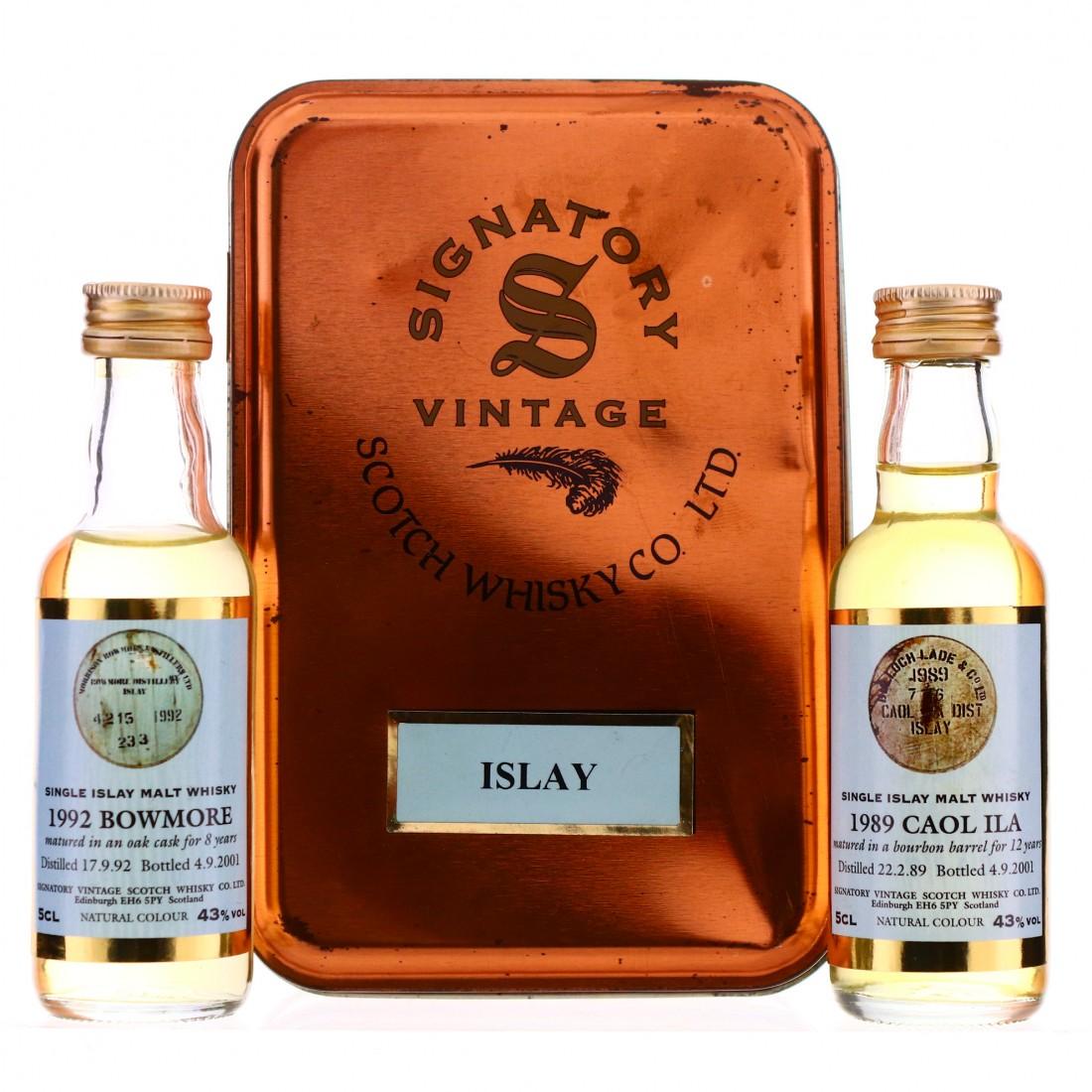 Signatory Vintage Islay Miniature x 2 / Bowmore and Caol Ila