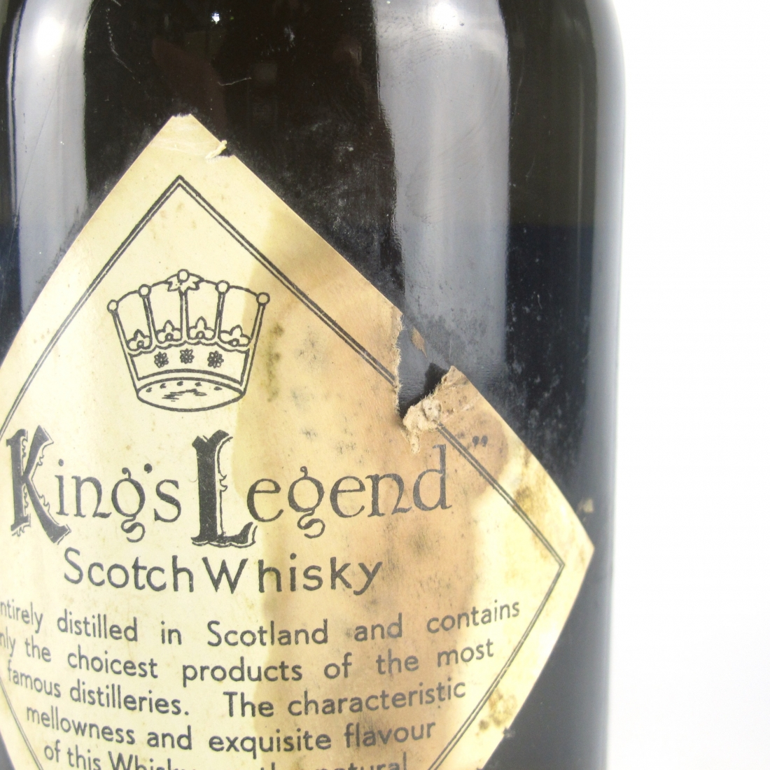 Ainslie's King's Legend Finest Scotch Whisky 1950s
