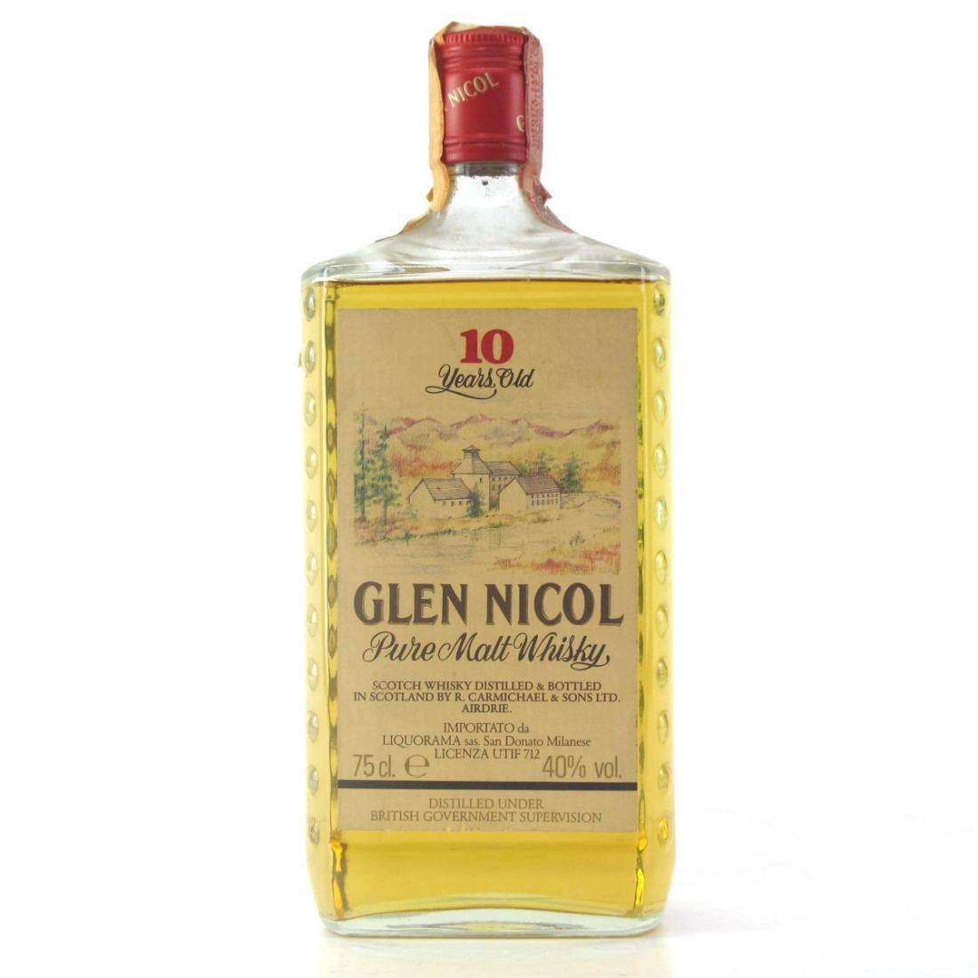 Glen Nicol 10 Year Old Pure Malt 1980s