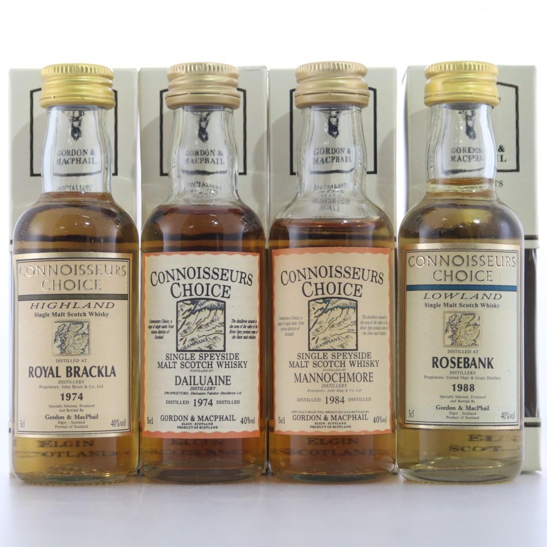 Gordon and MacPhail Miniature Selection x 4 / Includes Rosebank 1988