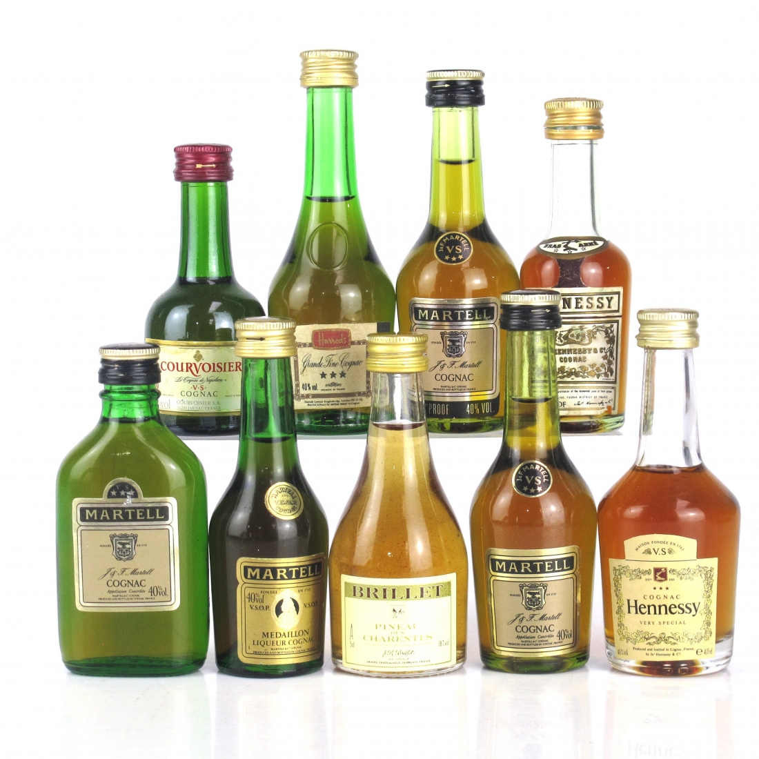 Cognac Miniatures Selection x 9