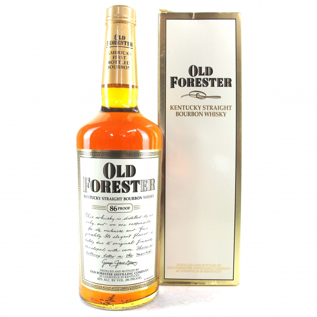 Old Forester 4 Year Old Kentucky Straight Bourbon