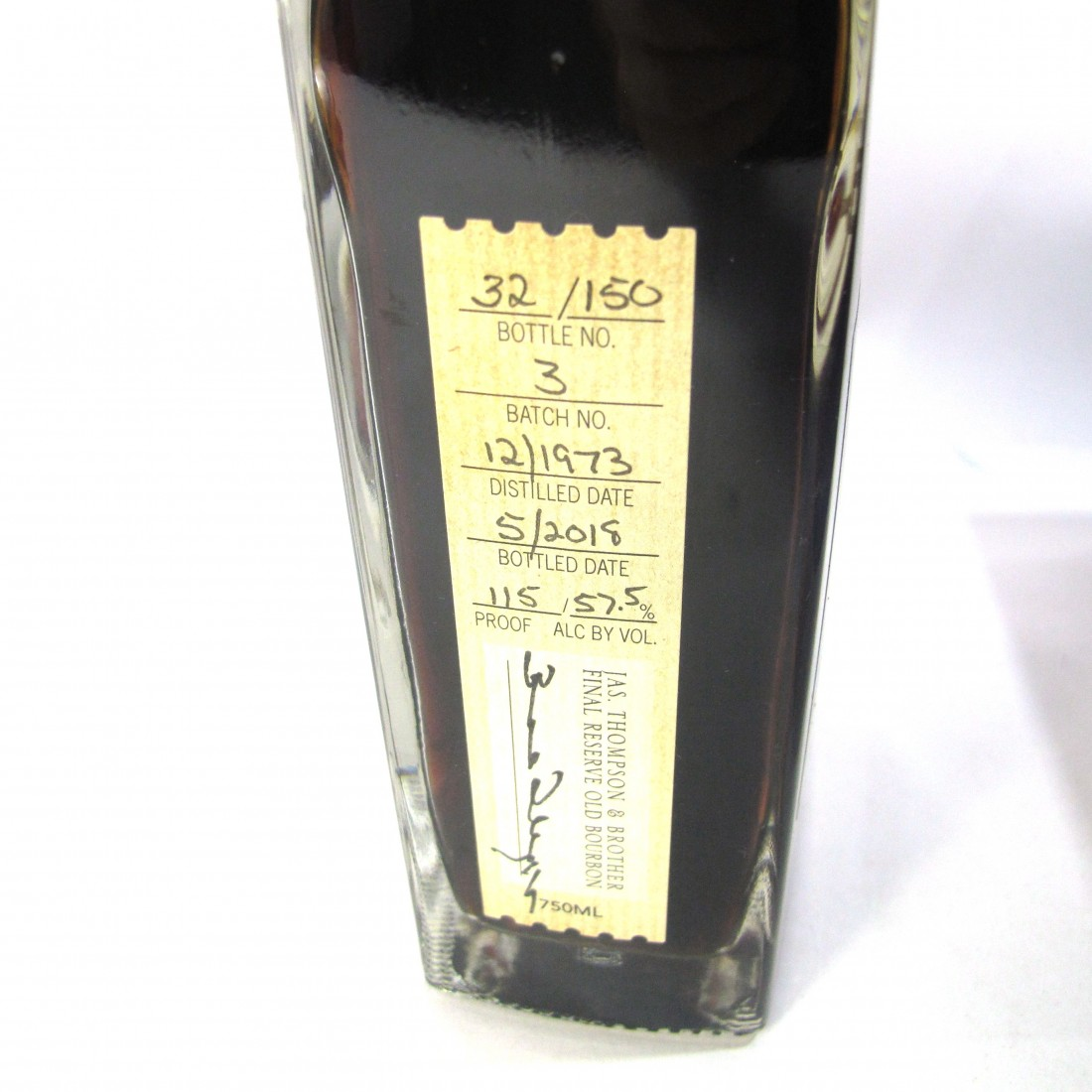 James Thompson & Brother 1973 Final Reserve 45 Year Old