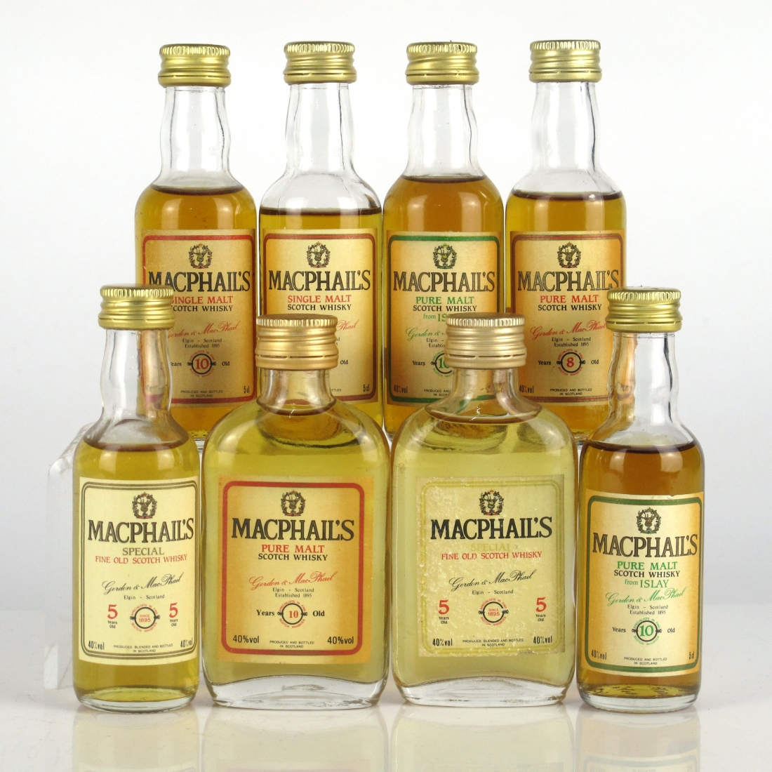 MacPhail's Scotch Whisky Miniature Selection 8 x 5cl
