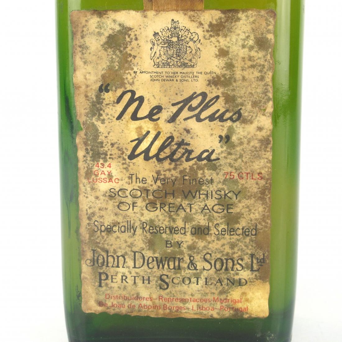 Ne Plus Ultra John Dewar's & Sons 1960s
