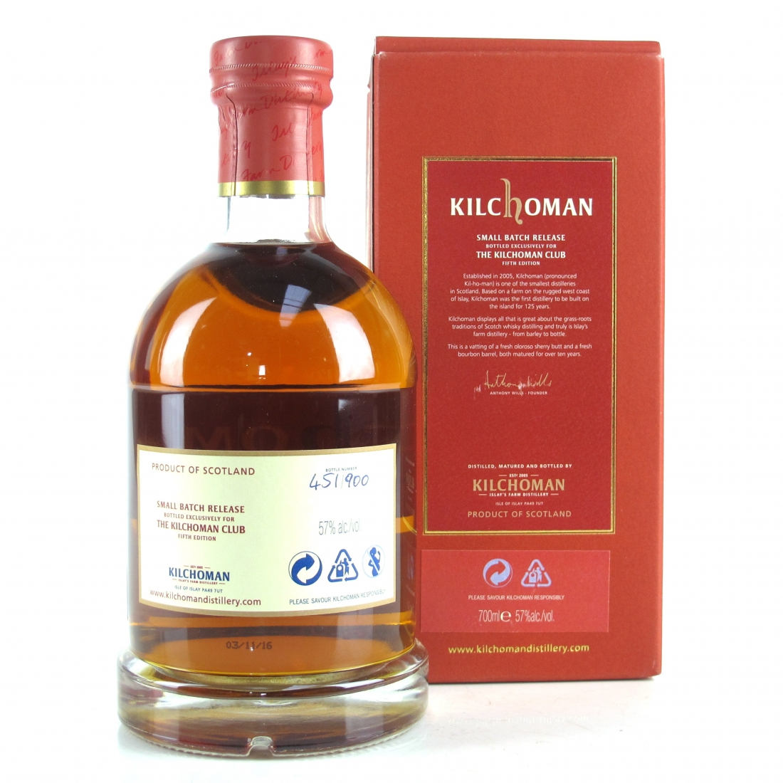 Kilchoman 10 Year Old / Kilchoman Club 5th Edition
