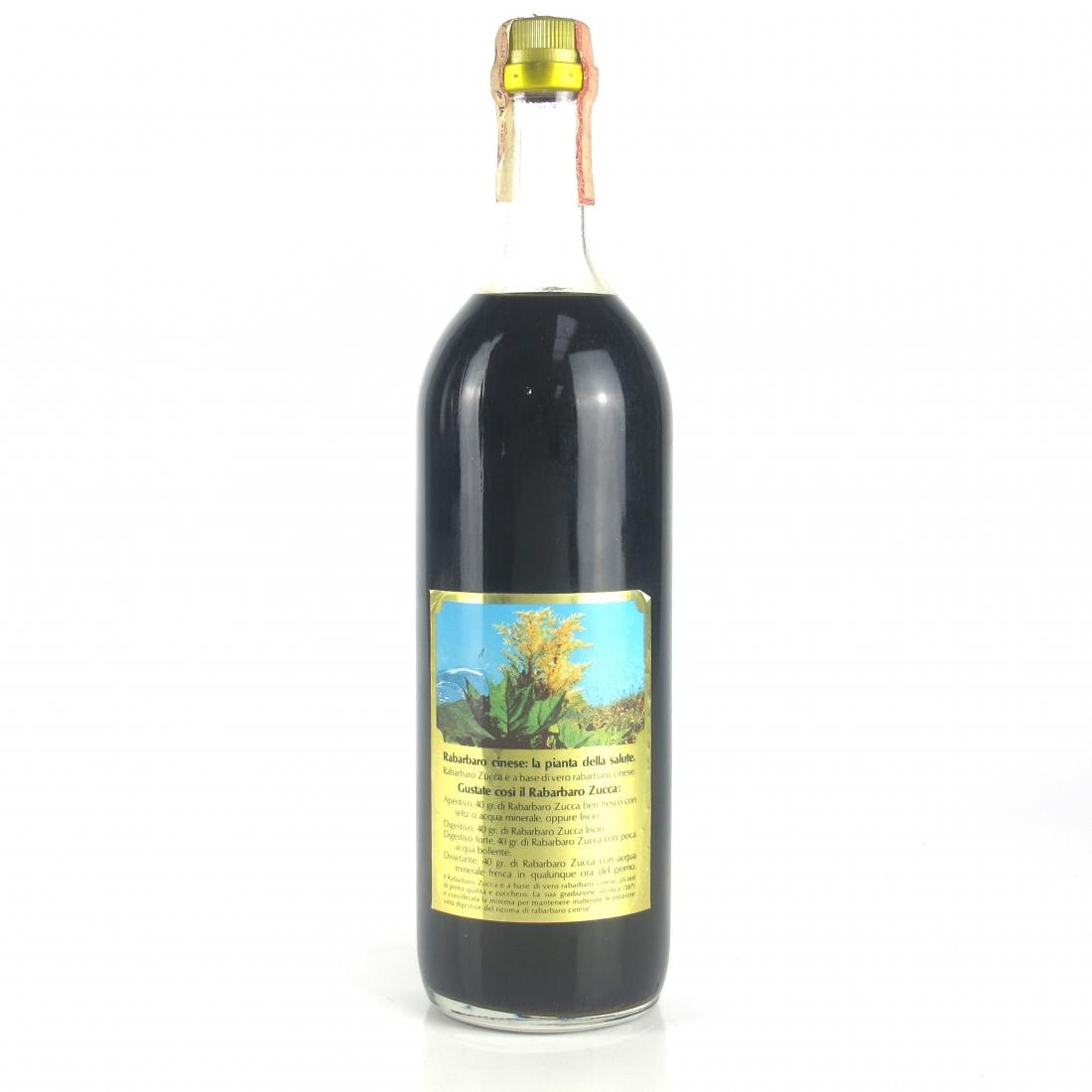 Zucca Elixir Rabarbaro 1 Litre 1970s