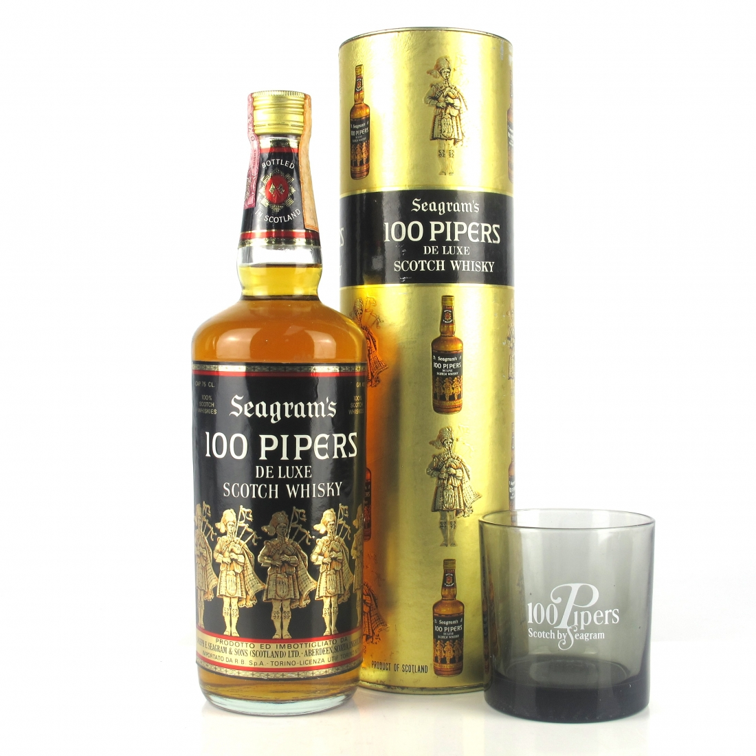 100 Pipers 1970s / includes Glass