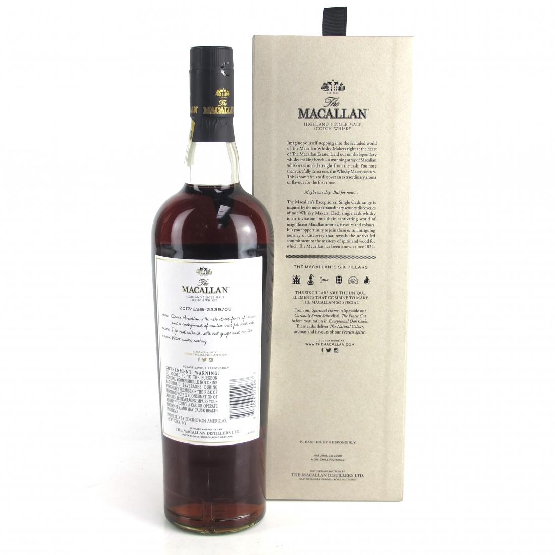 Macallan 2002 Exceptional Cask #2339-05 / US Import 75cl