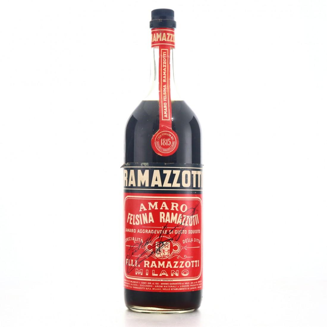 Ramazzotti Felsina Amaro 1.5 Litre 1960s