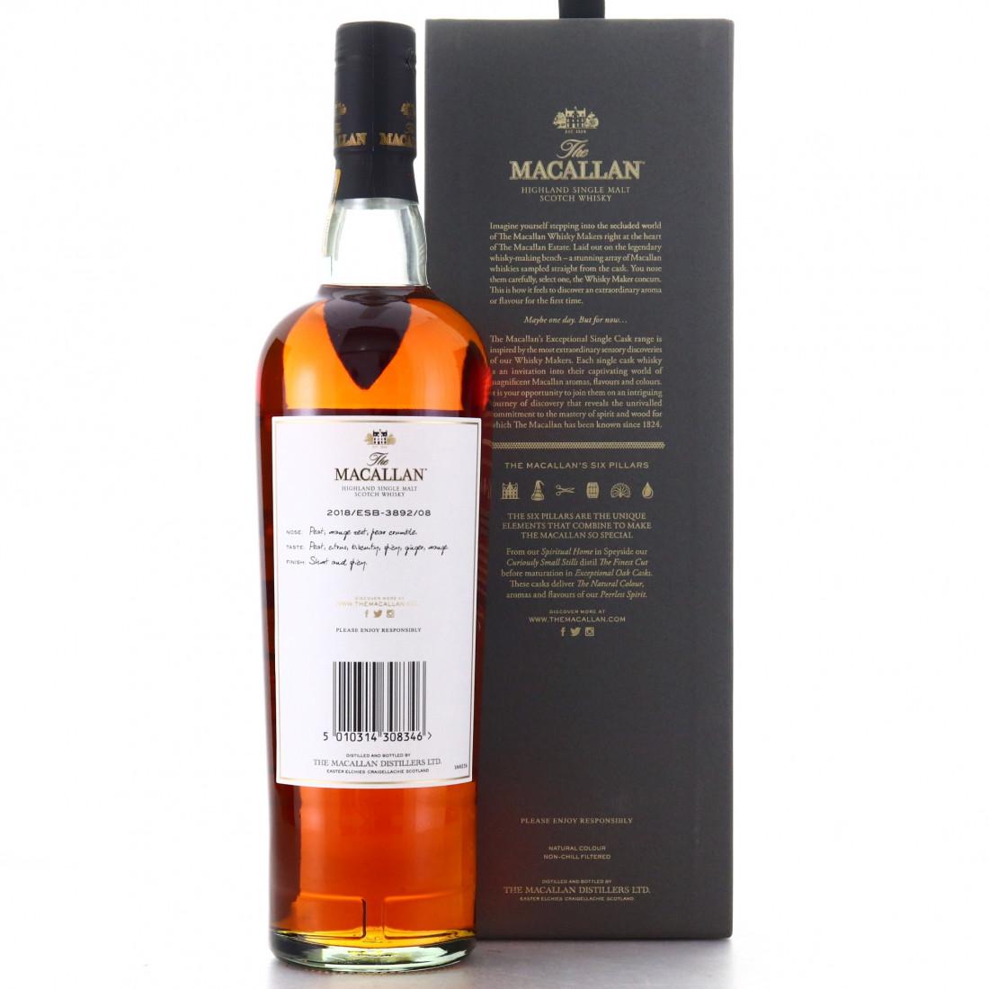 Macallan 1988 Exceptional Cask #3892-08 / 2018 Release