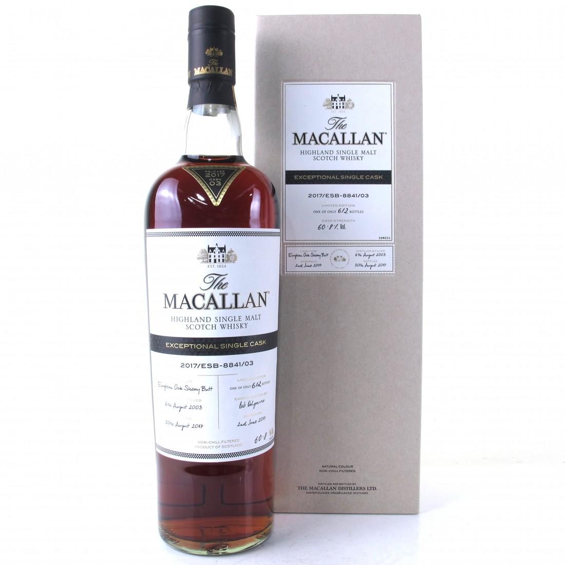 Macallan 2003 Exceptional Cask #8841-03