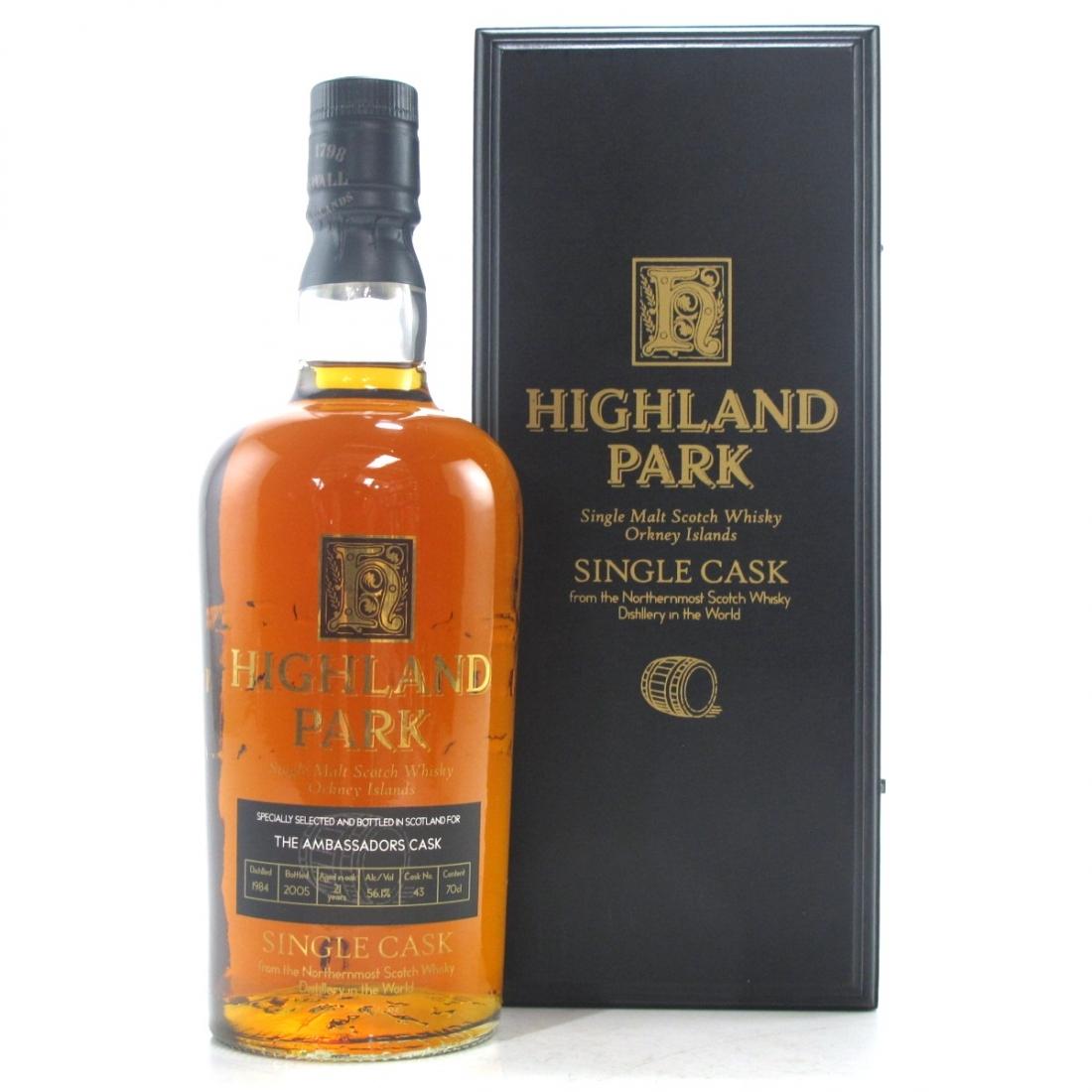 Highland Park 1984 Single Cask 21 Year Old / Ambassador Cask #1