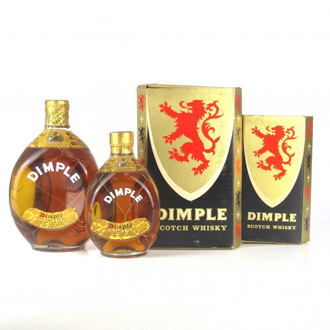 Haig's Dimple 1960s / Including Half Bottle